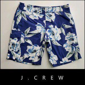J. Crew Men Floral Board Short Size 32 Blue